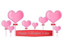 Roze hartvector Royalty-vrije Stock Foto