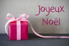 Roze Heden, Joyeux Noel Means Merry Christmas Stock Fotografie
