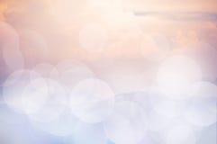 Roze hemel bokeh achtergrond Royalty-vrije Stock Afbeeldingen