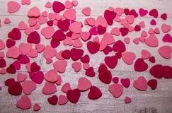 Roze het hartachtergrond van het suikerdeeg Stock Afbeeldingen