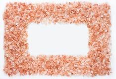 Roze himalayan zout kader Stock Afbeelding