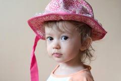 Roze hoed royalty-vrije stock afbeeldingen