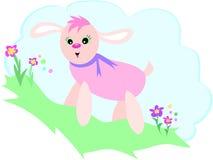 Roze Hond op een Heuvel Royalty-vrije Stock Foto's