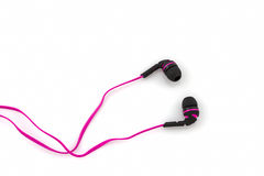 Roze hoofdtelefoons Royalty-vrije Stock Afbeelding