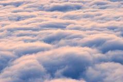 Roze hooggebergtewolken Royalty-vrije Stock Afbeelding