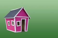 Roze Huis Stock Afbeelding