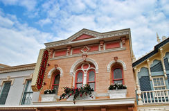 Roze huis Stock Foto