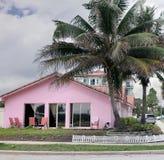 Roze huis Royalty-vrije Stock Foto's