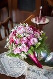Roze huwelijks- boeket Stock Foto's