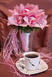 Roze huwelijksboeket van orchideeën Royalty-vrije Stock Afbeelding