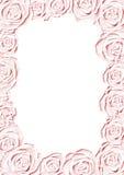 Roze huwelijksframe Stock Fotografie