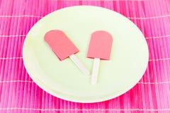 Roze ijslollys Royalty-vrije Stock Afbeelding