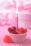 Roze kaars royalty-vrije stock foto