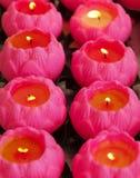 Roze kaarsen Royalty-vrije Stock Afbeeldingen