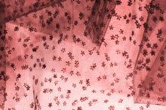 Roze kant op witte achtergrond De extravagantie en de elegantie zijn Com Royalty-vrije Stock Foto