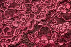 Roze kantachtergrond Stock Afbeeldingen