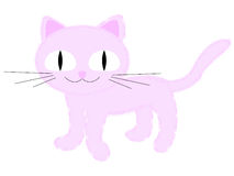 Roze kat stock illustratie