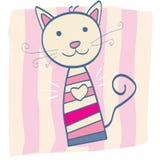 Roze katje vector illustratie