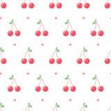 Roze kers en punten royalty-vrije illustratie