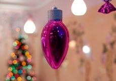Roze Kerstmis Stock Afbeelding