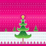 Roze Kerstmis, vector Stock Foto's