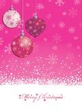 Roze Kerstmisachtergrond Stock Foto
