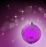 Roze Kerstmisachtergrond met sterren het glanzen Royalty-vrije Stock Foto's