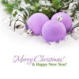 Roze Kerstmisballen Royalty-vrije Stock Afbeeldingen