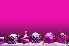 Roze Kerstmisbanner Stock Afbeelding