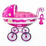 Roze Kinderwagen Stock Fotografie