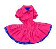 Roze kleding voor meisjes in motie royalty-vrije stock afbeelding