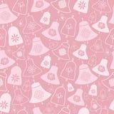 Roze Klokken en Bloemen Naadloos Patroon stock foto