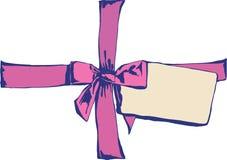 Roze kom stock illustratie