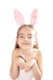 Roze konijn-meisje Royalty-vrije Stock Afbeeldingen