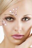 Roze kristalmeisje Stock Afbeeldingen