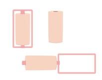 Roze krulspelden Stock Foto's