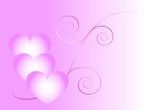 Roze liefdeachtergrond stock illustratie