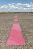 Roze lijnen op baan Royalty-vrije Stock Afbeelding