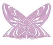 Roze lilac lichte geometrische vlindermot van de lijnen van het gestreepte die voorwerp op de witte achtergrond wordt geïsoleerd royalty-vrije illustratie