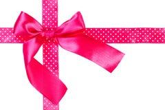 Roze lint en boog Stock Foto's