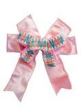 roze lintboog met geïsoleerd Stock Afbeeldingen