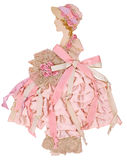 Roze Lintdocument Doll Royalty-vrije Stock Afbeelding
