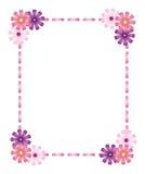 Roze lintframe met bloemen Vector Illustratie