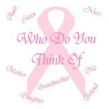 Roze lintgeheugen Stock Afbeeldingen