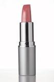 Roze lippenstift op witte achtergrond stock afbeeldingen