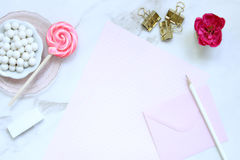 Roze lollie Royalty-vrije Stock Afbeeldingen