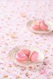 Roze Macarons Stock Afbeeldingen