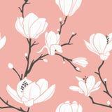 Roze magnoliapatroon Royalty-vrije Stock Afbeeldingen