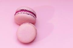 Roze makarons Royalty-vrije Stock Afbeeldingen