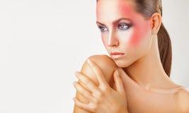 Roze make-up royalty-vrije stock foto's